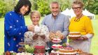 The Great British Bake Off (left to right) Noel Fielding, Sandi Toksvig, Paul Hollywood and Prue Leith. Photograph: Channel 4/PA Wire