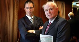 Petrel Resources managing director David Horgan with company chairman John Teeling. Photograph: Brenda Fitzsimons
