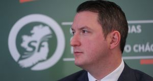 Sinn Féin's North Belfast MP John Finucane: His visit to the US so soon after his election underlines the importance Sinn Féin ascribes to its American support. Photograph:  Niall Carson/PA