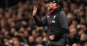 Liverpool manager Jurgen Klopp: His team essentially updates the principles of Paisley's best side.  Photograph: John Walton/PA Wire.