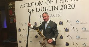 Jim Gavin attending the Freedom of the City of Dublin ceremony on Saturday night in the Mansion House.