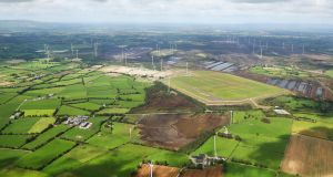 An aerial view of the lands at Lisheen suggests potential for renewable energy and agriculture.