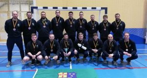 The Irish men's squad  who won bronze at the EuroHockey Championships III in Santander