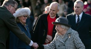 "The queen said she recognised the ""challenges"" the couple had faced over the past year. Photograph: Will Oliver/EPA"