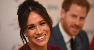 Prince Harry said he and his wife Meghan will continue to lead a life of service. Photograph: Jeremy Selwyn/AFP via Getty Images