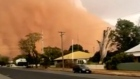 New South Wales hit by dust storms and golf ball-sized hail