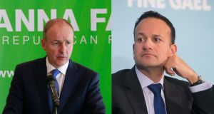 The first debate between Fine Gael leader Leo Varadkar and Fianna Fáil leader Micheál Martin is happening earlier in the 2020 general election campaign than expected. Photographs: Nick Bradshaw/The Irish Times and Gareth Chaney/Collins