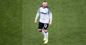 Wayne Rooney's signing for Derby County was partially funded by sponsors 32Red. Photo: Sebastian Frej/MB Media/Getty Images