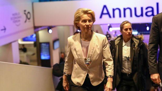 Irish backstop - Ursula von der Leyen, president of the European Commission at the World Economic Forum in Davos, Switzerland.