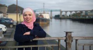 Ghada Feddawi, originally from Syria, works to support other refugees. Photograph: Aidan Crawley