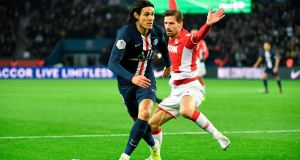 Paris Saint-Germain's Edinson Cavani is looking to leave the club. Photo: Bertrand Guay/AFP via Getty Images