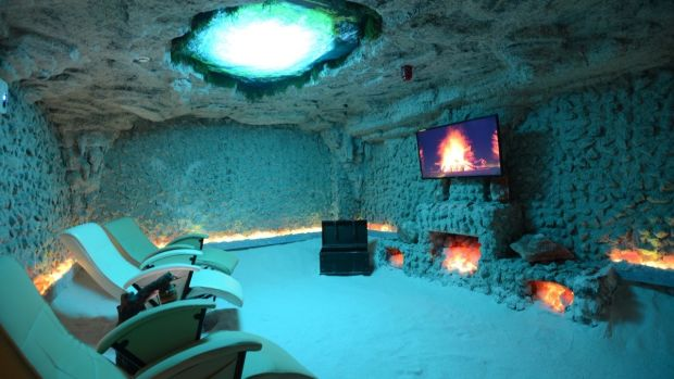 Salt Cave Halotherapy in Balbriggan, north Co Dublin, offers a range of handmade salt products, including black salt believed to have particular medicinal properties, including black salt pillows and black salt lamps.
