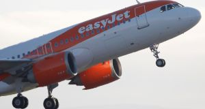 The collapse of Thomas Cook last September accounted for almost a fifth of the 8.8%  gain in revenue per seat at EasyJet in the December quarter. Photograph: Reuters/Phil Noble