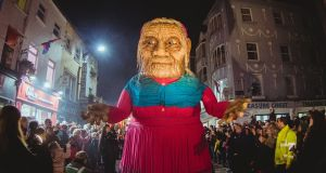 Halloween parade. Macnas, founded in 1986, pioneered anarchic, visual street performance in Ireland