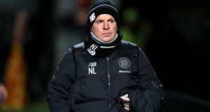 Celtic manager Neil Lennon: 'Looking at the league table I think we are still top of the league even though they have a game in hand.' Photograph:   Jane Barlow/PA Wire