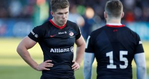 Owen Farrell: English rugby has directly benefited from the success of Saracens, from their coaching standards and the benefit of settled partnerships at club level.  Photograph: Paul Childs/Reuters