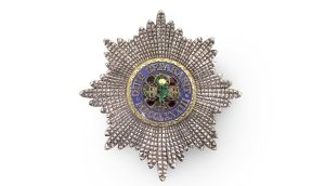 The Most Illustrious Order of St Patrick, a jewelled breast star, sold for €32,343 – more than three times its estimated price  The Most Illustrious Order of St Patrick, a jewelled breast star, sold for €32,343 – more than three times its estimated price