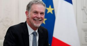 Reed Hastings, co-founder and CEO of Netflix. Photograph:  Benoit Tessier/pool/AFP via Getty Images