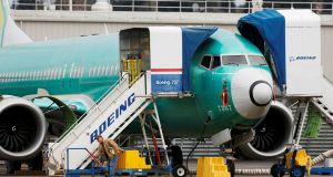 Boeing has confirmed that there will be a further delay to getting the 737 Max back into service. Photograph: Lindsey Wasson/Reuters