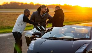 Motormouths: Freddie Flintoff, Chris Harris and Paddy McGuinness on Top Gear, Sunday night on BBC2