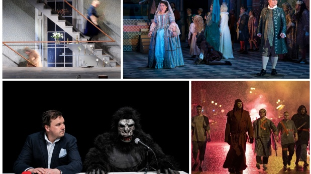 Best Production nominees (clockwise from top left): Epiphany, La Cenerentola, The Big Chapel X, The Examination