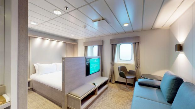 The deluxe cabin on board WB Yeats from Irish Ferries