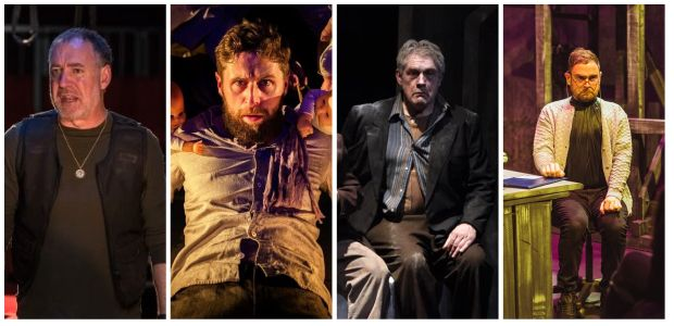 Best Actor Nominees:(From L to R) Brian Doherty, Aaron Monaghan, Seamus O'Rourke and James Riordan