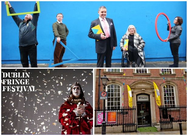 Judges' special prize nominees: (clockwise from top Arts and Disability Ireland, The Ark: A Cultural Centre for Children, Dublin Fringe Festival and the communities of Limerick, Callan and Mullingar (not pictured)