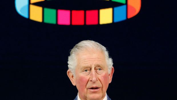 A man whose time has come? Britain's Prince Charles addressed the World Economic Forum in Davos on Wednesday. Photograph: AP