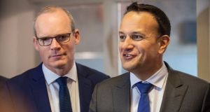 Tánaiste Simon Coveney and Taoiseach Leo Varadkar:  The timing of the ESRI's study is likely to raise eyebrows in Leinster House. Photograph: Douglas O'Connor/PA Wire