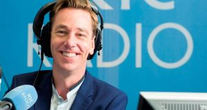 Ryan Tubridy got more political than he meant to last week. Photograph: RTÉ