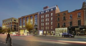 A computer-generated image of the newly-completed Lumen Building on Baggot Street in Dublin 4.