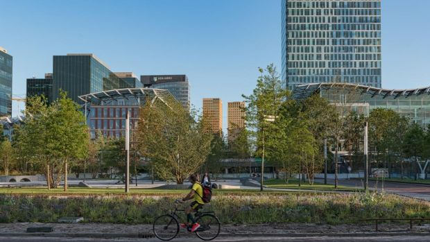 Of primary importance to Dutch planners was to ensure that any substantial new development was tied into the rail network. Photograph: Julie Picardi/Barcroft Media via Getty Images