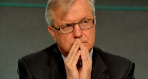 Olli Rehn said the current formulation for the ECB's inflation target was skewed in favour of lower inflation rates.