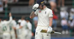 Ben Stokes was dismissed for just two on the opening day at The Wanderers. Photograph: Stu Forster/Getty