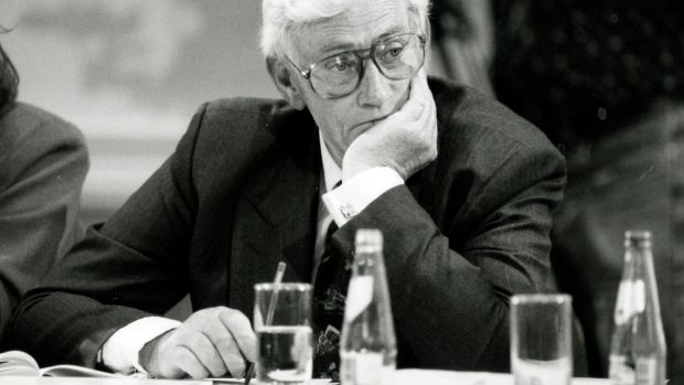 Seamus Mallon at the Forum for Peace and Reconciliation in Dublin Castle in July 1995. Photograph: Frank Miller