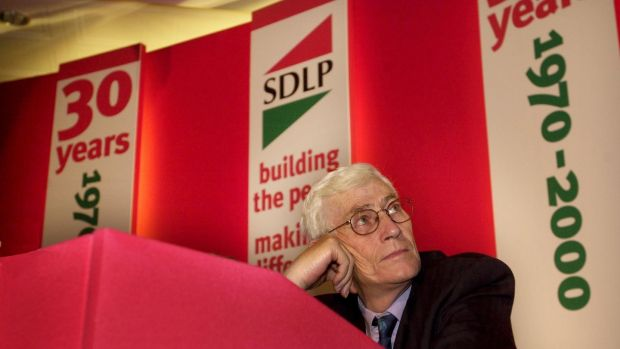 Seamus Mallon at the SDLP annual conference in Newcastle, Co Down, in November 2000. Photograph: Matt Kavanagh
