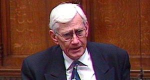 Séamus Mallon speaking in the House of Commons in 1999. Photograph: PA