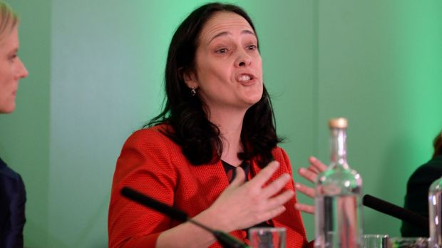 Green Party deputy leader Catherine Martin at the publication of the party's manifesto. Photograph: PA