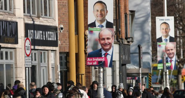 "Election campaign in full swing: Fine Gael has this morning published a version of the Fianna Fáil manifesto that features the slogan ""no costings, no credibility"". Photograph: Nick Bradshaw"