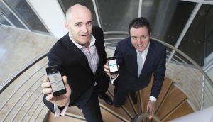 Blueface founder Alan Foy, right, pictured in 2012 at the launch of a partnership with Three Ireland