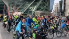 Cyclists protest delay in building 5km Liffey path in Dublin
