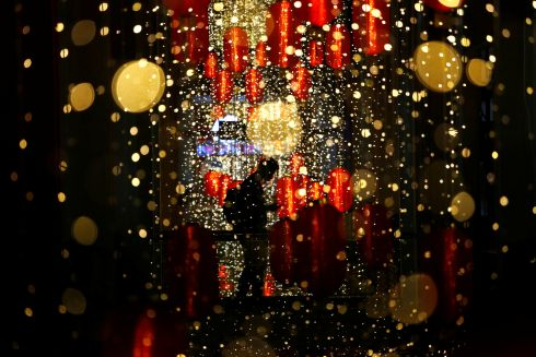 NEW YEAR: A man walks past Chinese Lunar New Year lanterns at a shopping mall in Jakarta, Indonesia on Sunday. Photograph: Ajeng Dinar Ulfiana/Reuters