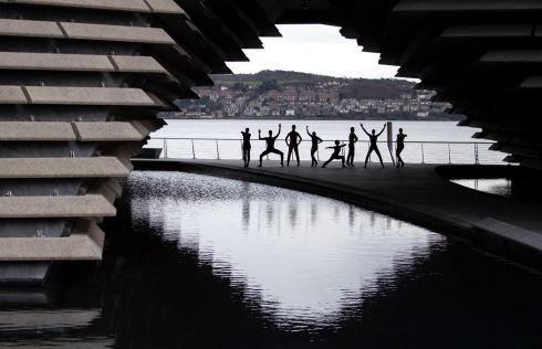 REHEARSAL: The Scottish Dance Theatre stage an impromptu rehearsal outside the V&A Dundee, performing excerpts of Process Day by Sharon Eyal and Gai Behar ahead of their Double Bill at the Edinburgh Festival Theatre on Wednesday January 29th. Photograph: Jane Barlow/PA Wire