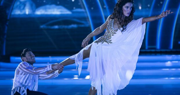 Glenda Gilson and Robert Rowinski during the live show of Dancing with the stars. Photograph: Kyran O'Brien