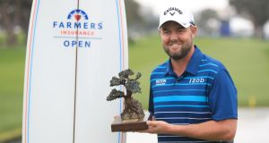 Marc Leishman was victorious in the Farmers Insurance Open at Torrey Pines. Photograph: Sean M. Haffey/Getty