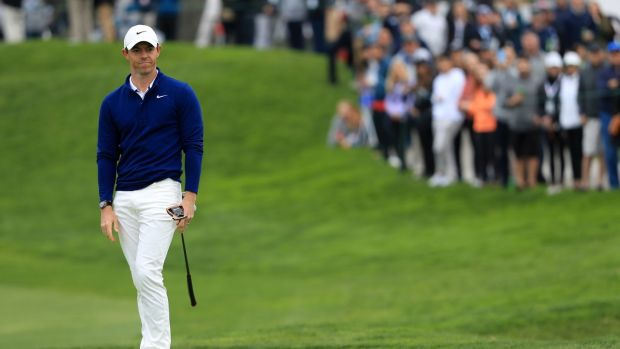 Rory McIlroy finished with a round of 69 in San Diego. Photograph: Sean M. Haffey/Getty
