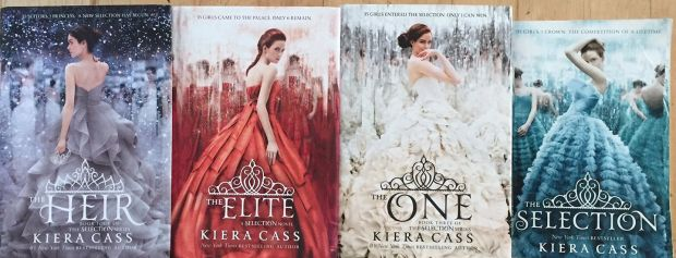 The Selection series by Kiera Cass: a dystopian Love Island but with only one possibility. One of the most addictive series I have ever read!