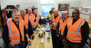 From left, members of Ramsgrange Men's Shed:  Ray Shannon, Tom Connery, Dan Coady, Matt Molloy, Mark Webster, Michael Giese, Kevin Quigley and Michael Smith. Photograph: Bryan O' Brien