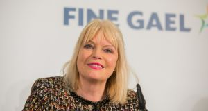 Minister of State for Higher Education, Mary Mitchell O'Connor is pictured at a Fine Gael election event in Dublin on Monday.  Photograph: Gareth Chaney/Collins.
